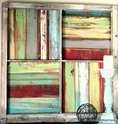 old window scrap boards