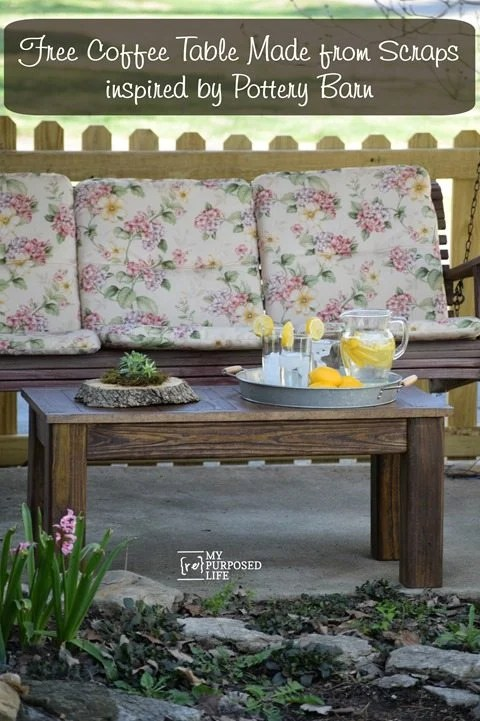Pottery Barn Rustic Coffee Table.Rustic Coffee Table My Repurposed Life