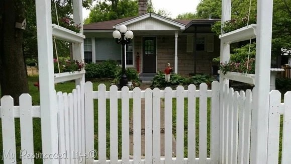 front arbor, front view of porch