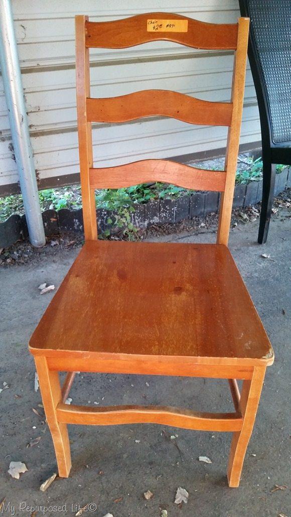 2 dollar thrift store chair