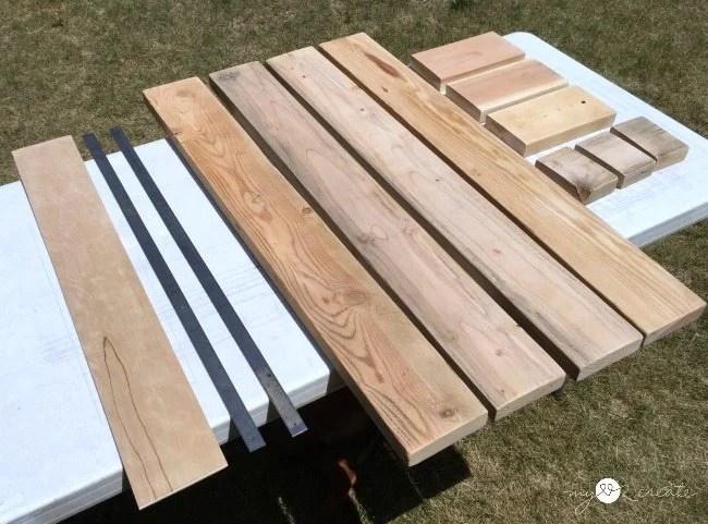 wood to build rustic industrial narrow bookshelf