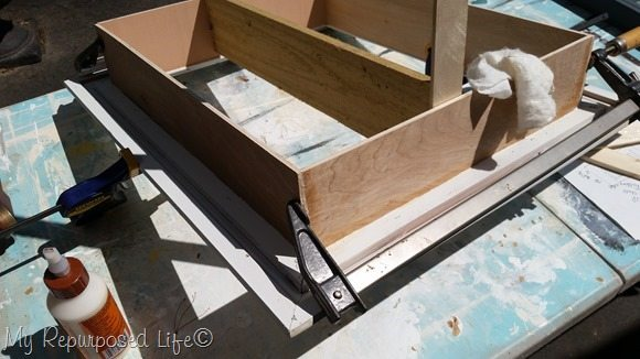 clamp and brace till glue sets up