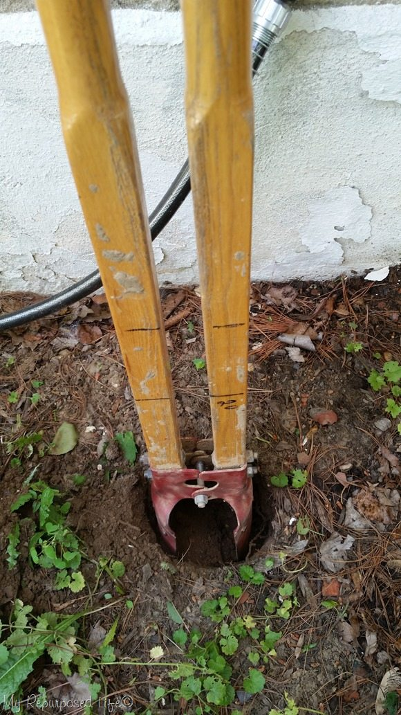dig post hole