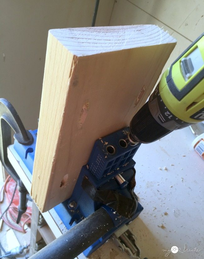 drilling pocket holes with Kreg Jig K5