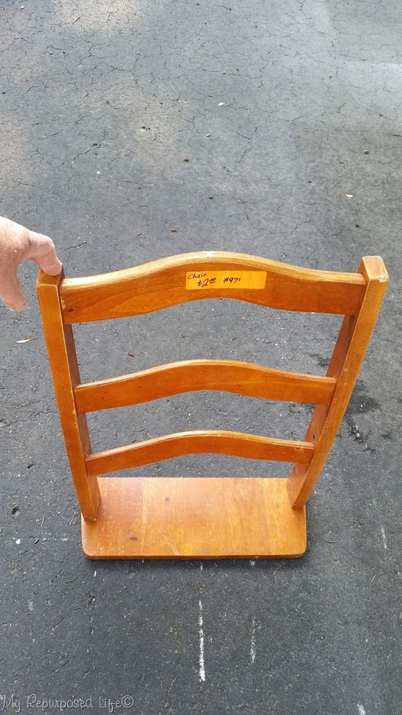 dry fit of chair back shelf