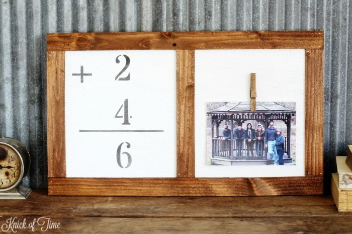 DIY family photo flashcard clipboard