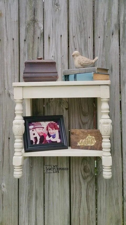 repurposed chair seat wall shelf MyRepurposedLife.com