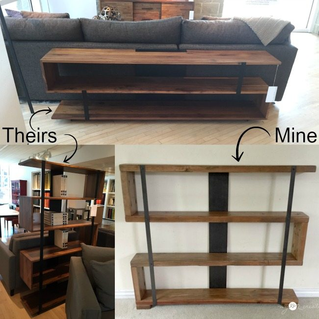 theirs and mine rustic industrial bookshelf