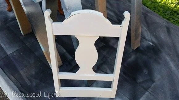 white chair back
