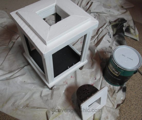 DIY Lantern from scrap wood and frames-012