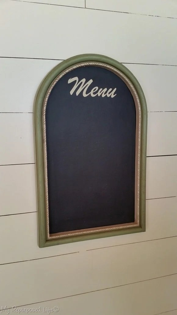 artwork into menu chalkboard