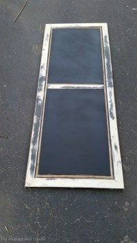 Repurposed Coffee Table into a Chalkboard Easel - My ...