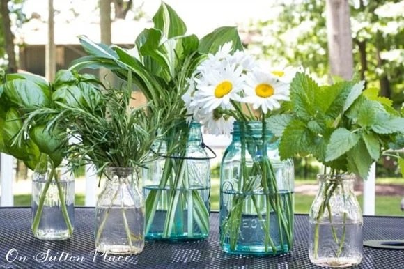 herb-and-flowers-daisies simply flower arrangements for summer