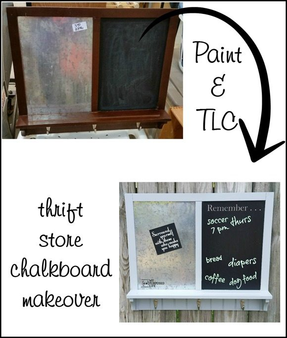 paint thrift store chalkboard makeover MyRepurposedLife.com