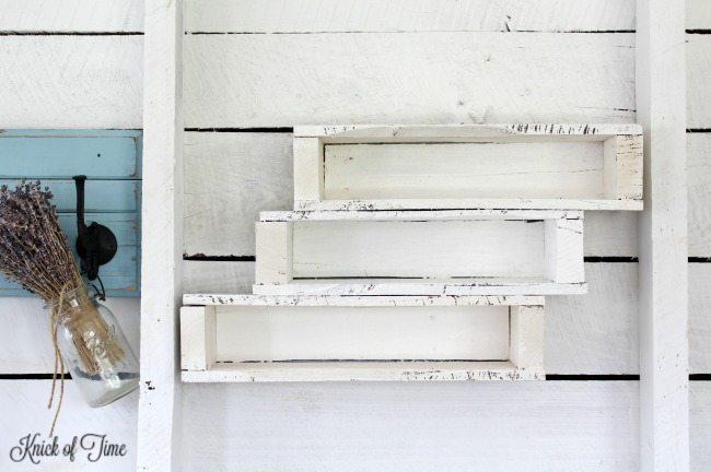 pallet shelf painted