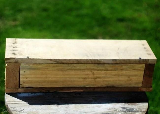 pallet wood storage crate