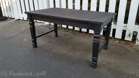 pretty satin painted bench or coffee table
