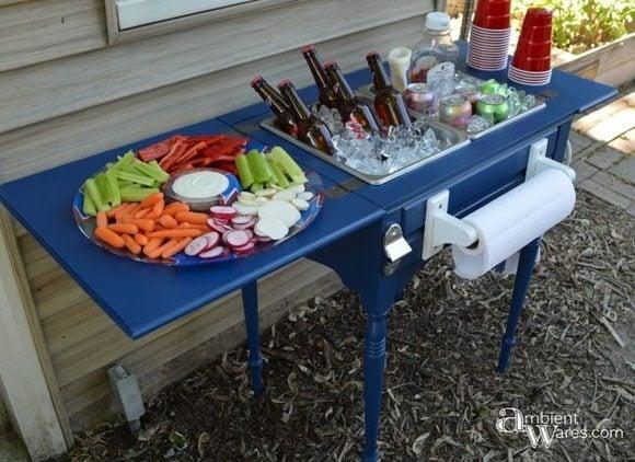 repurposed sewing table