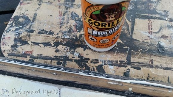 secure with gorilla wood glue