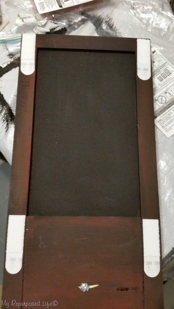 4 command strips hang chalkboard