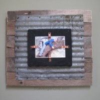 Corrugated Tin and Pallet Wood Frame - My Repurposed Life