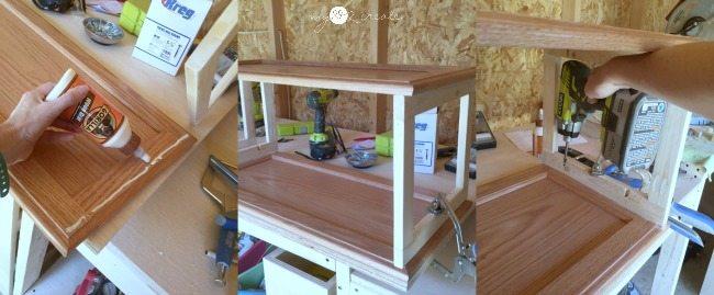 adding second cupboard door shelf
