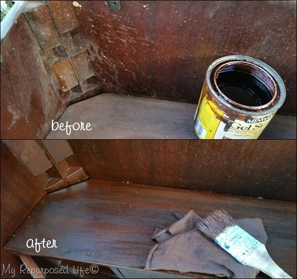 before and after minwax gel stain