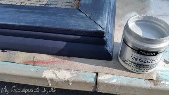 glaze frame with metallic paint