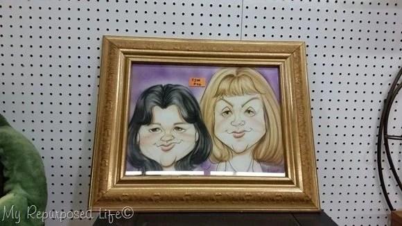 large framed caricature