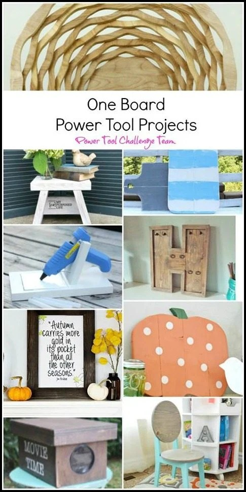 power tool challenge bloggers make something out of one board 2