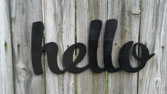 black cut out hello sign MyRepurposedLife.com