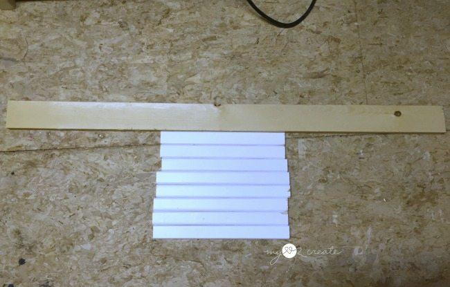 crib slats and scrap 1x3