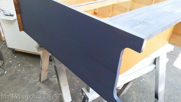 dark blue dresser