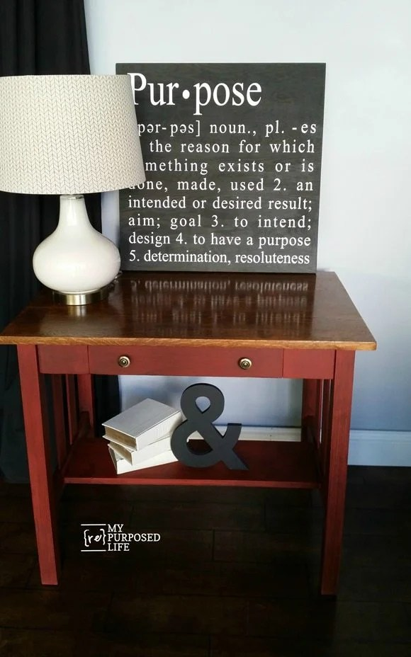 library table makeover MyRepurposedLife.com