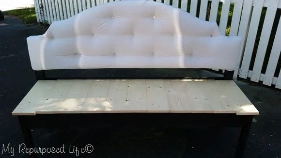 upholstered headboard bench seat