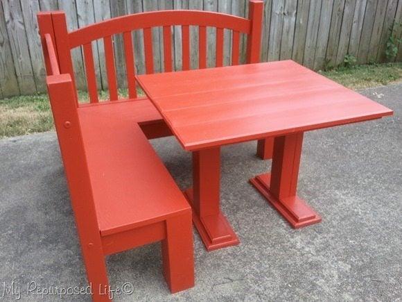 DIY Kids Corner Bench & Table (2)