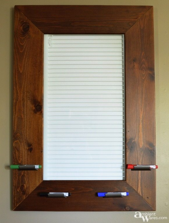Finished-dry-erase-board-from-an-old-refrigerator-shelf
