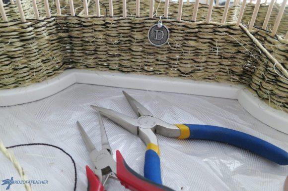 add-embellishment-to-diy-woven-basket