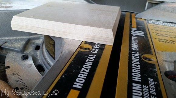 beveled angled edge