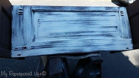 crackle finish paint over white glue