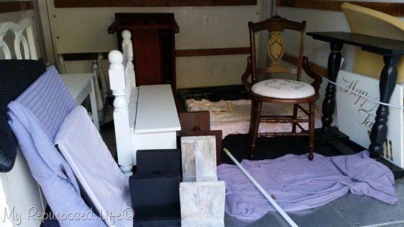 double pedestal table on u-haul