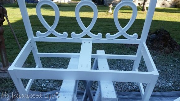 headboard bench white primer finish max paint sprayer