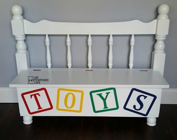 repurposed bunk bed toy box MyRepurposedLife.com