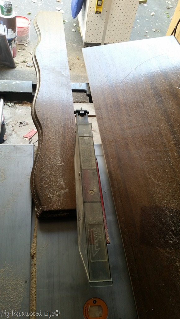 rip desk top on table saw
