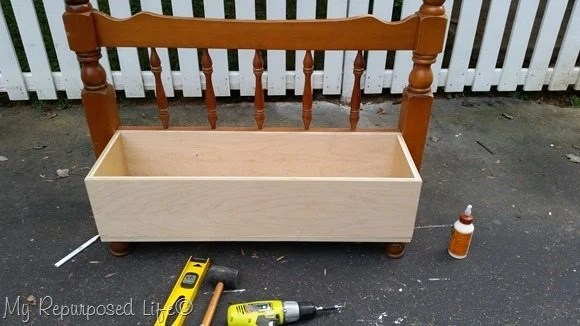 toy box repurposed twin bed