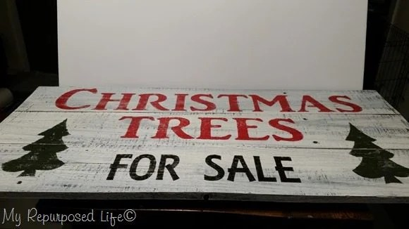 vintage looking Christmas Trees for sale sign