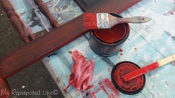 vintiques engine #9 red paint