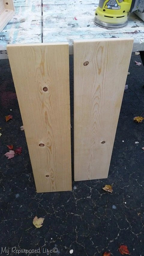 30 inch shelves sanded