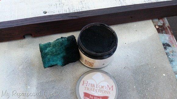 add wax with sponge
