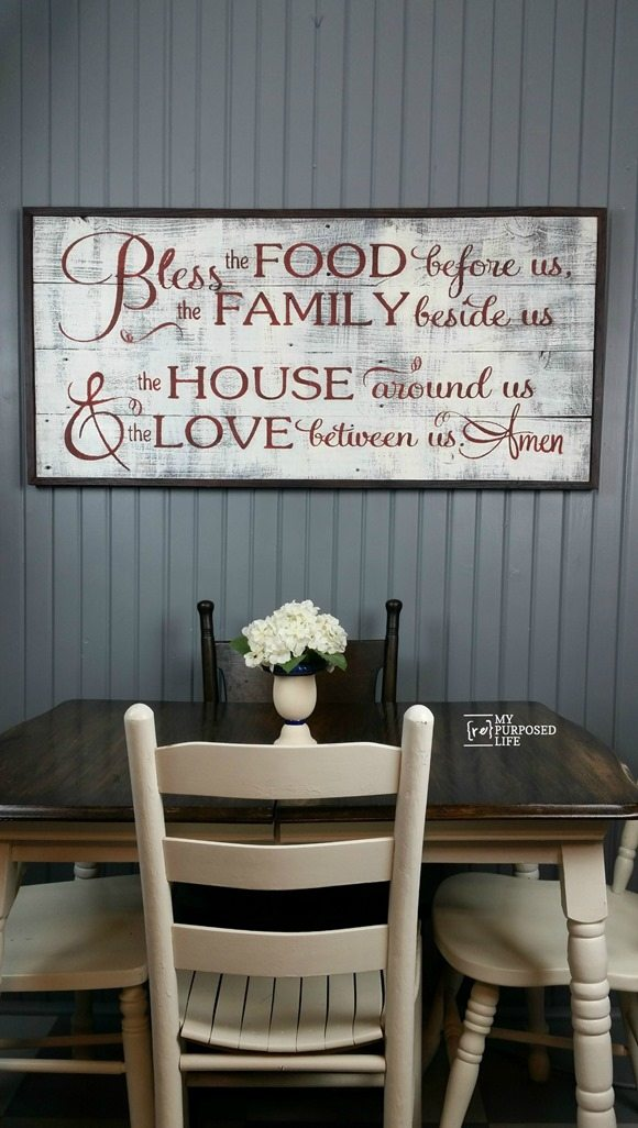 bless the food before us Rustic Sign MyRepurposedLife.com